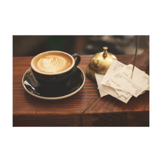Cafe Coffee Cup Canvas Print