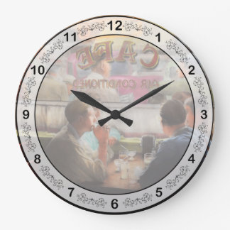 Cafe - Cold drinks with friends 1941 Large Clock