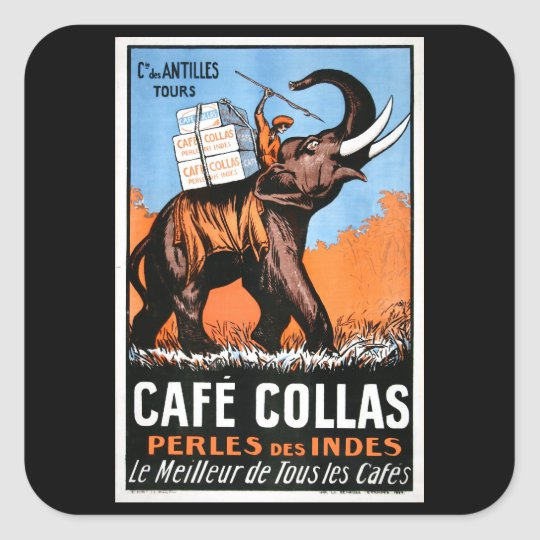 Cafe' Collas Square Sticker