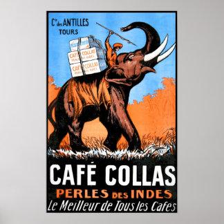 Cafe Collas Vintage Advert Print