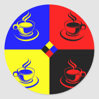 café colorido adesivos