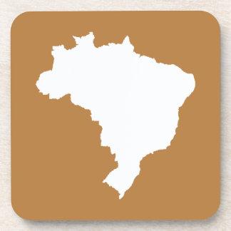 Café Com Leite Festive Brazil at Emporio Moffa Beverage Coaster