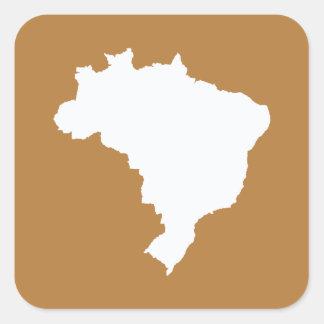 Café Com Leite Festive Brazil at Emporio Moffa Square Sticker
