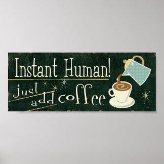 Café como vitaminas póster