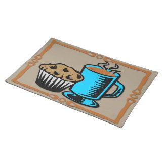 Café con el diseño Placemat del mollete Manteles Individuales