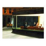 Café con las estrellas de cine - postal del vintag
