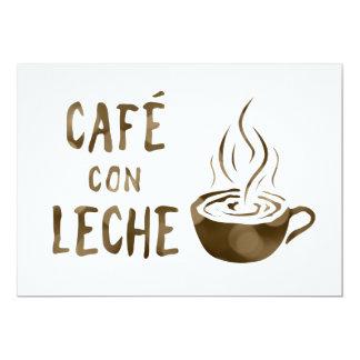 cafe con leche bokeh card