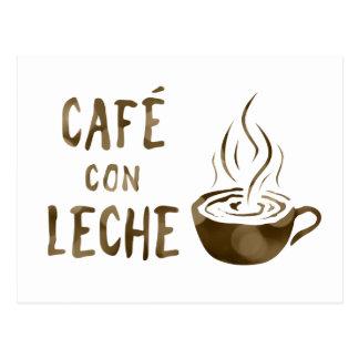 cafe con leche bokeh postcard