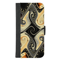 Cafe Con Leche Fractal Phone Wallet Case