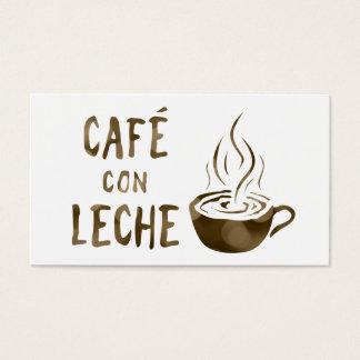 cafe con leche loyalty program business card