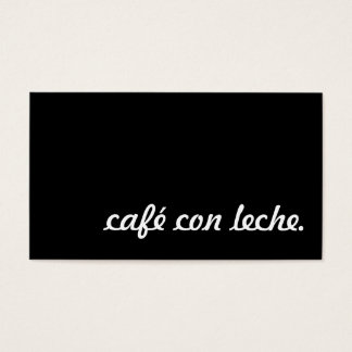 cafe con leche loyalty punch card