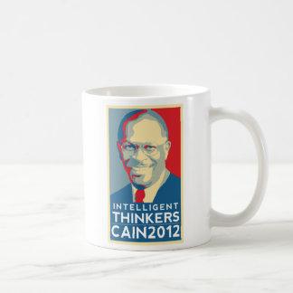 Café con los pensadores inteligentes tazas