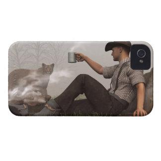 Café con un puma Case-Mate iPhone 4 cárcasa