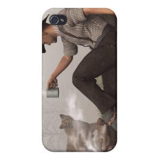 Café con un puma iPhone 4 fundas