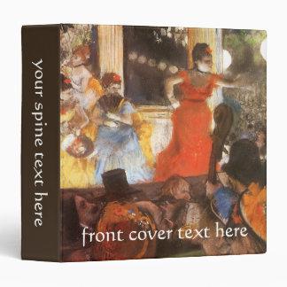 Cafe Concert at Les Ambassadeurs by Edgar Degas 3 Ring Binder