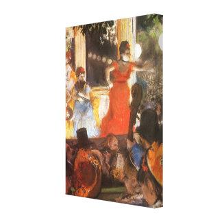 Cafe Concert at Les Ambassadeurs by Edgar Degas Canvas Print