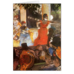 Cafe Concert at Les Ambassadeurs by Edgar Degas Greeting Cards