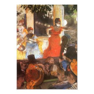 Cafe Concert at Les Ambassadeurs by Edgar Degas Card