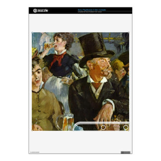 Cafe Concert by Edouard Manet Decal For PS3 Slim