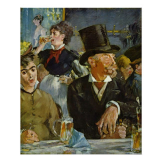 Cafe Concert by Edouard Manet Poster