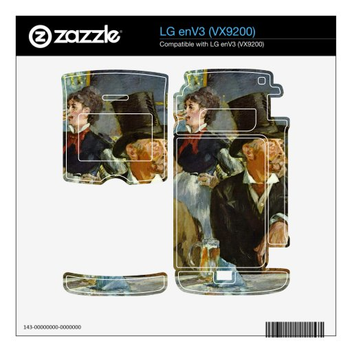 Cafe Concert by Edouard Manet Decal For The LG enV3