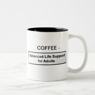 CAFÉ - CONECTADO A UNA MÁQUINA QUE MANTIENE LAS TAZA DE DOS TONOS