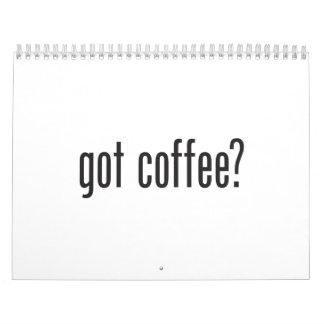 café conseguido calendarios