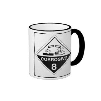 CAFÉ CORROSIVO TAZA DE DOS COLORES