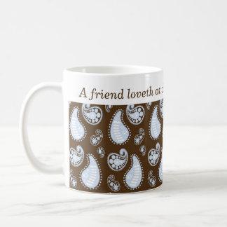 Café cristiano del regalo de la amistad de Paisley Taza