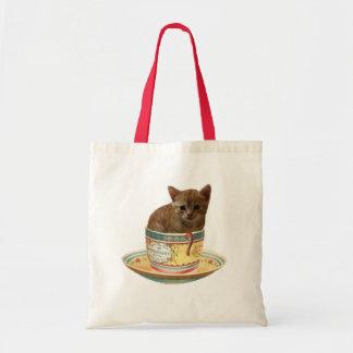 ¿Café cualquier persona? bolsos del gatito Bolsa De Mano