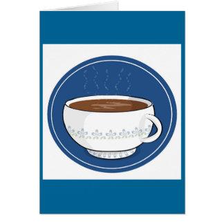¿Café cualquier persona? Tarjeta De Felicitación