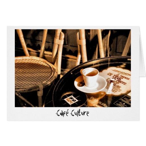 Café Culture Greeting Card