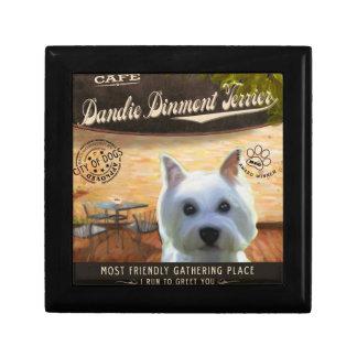 Café Dandie Dinmont Terrier Cajas De Recuerdo