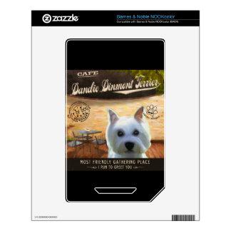 Café Dandie Dinmont Terrier Skins For The NOOK Color