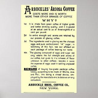 CAFÉ de ARIOSA del Vintage-anuncio ARBUCKLES Poster