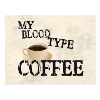 Café de Bloodtype Tarjetas Postales