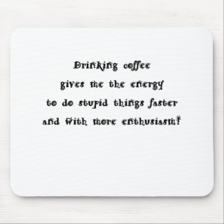 Café de consumición alfombrilla de ratón