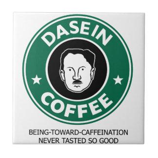 Café de Dasein Azulejo Cuadrado Pequeño