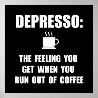 Café de Depresso Póster