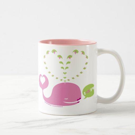 Café de EveWhale/taza rosados dulces del té