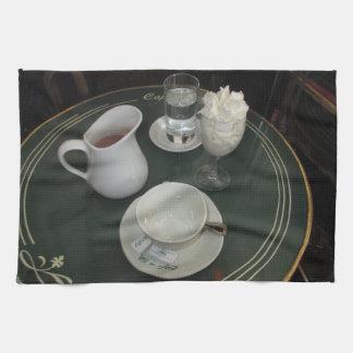 Cafe de Flore, Paris, France - Cafe Viennois Kitchen Towel