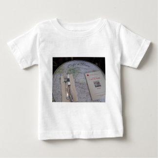 Cafe de Flore, Paris, France - Place Setting, Menu Baby T-Shirt