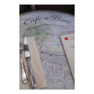 Cafe de Flore, Paris, France - Place Setting, Menu Stationery