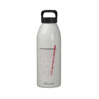 Café de hielo botella de agua
