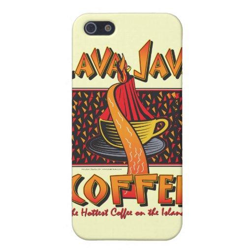 Café de Java de la lava de la isla hawaiana iPhone 5 Fundas