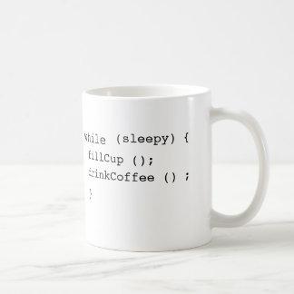 café de Java-scripters Taza Básica Blanca