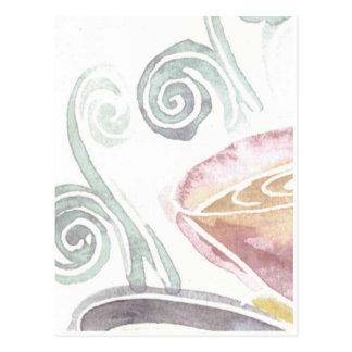 café de la acuarela tarjeta postal