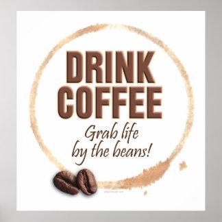 Café de la bebida estilo 2 poster