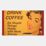 Café de la bebida:  Haga las cosas estúpidas más Rectangular Altavoces