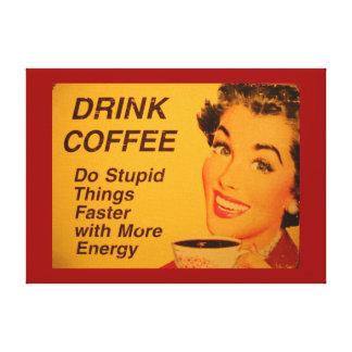 Café de la bebida impresión en lona estirada